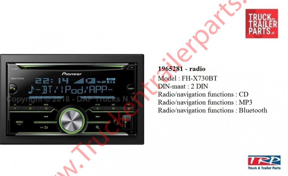 Radio CD/MP3 Bt Pioneer FH-X730BT