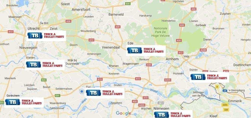 Locaties Truck en Trailer Parts Oost-Nederland