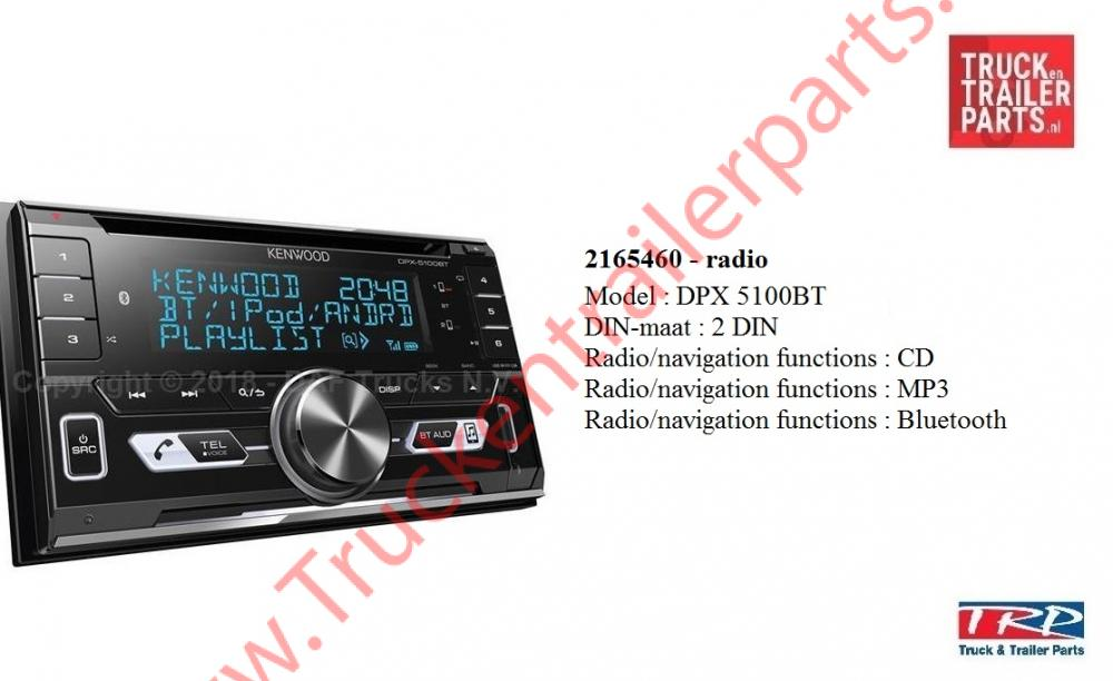 Kenwood radio 2 DIN type DPX5100BT