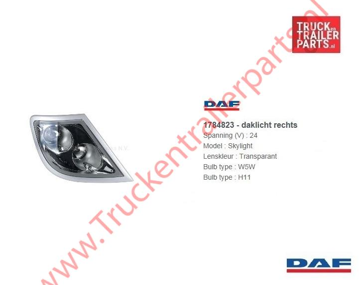 Skylight DAF XF/CF Euro 6 / XF105 Links