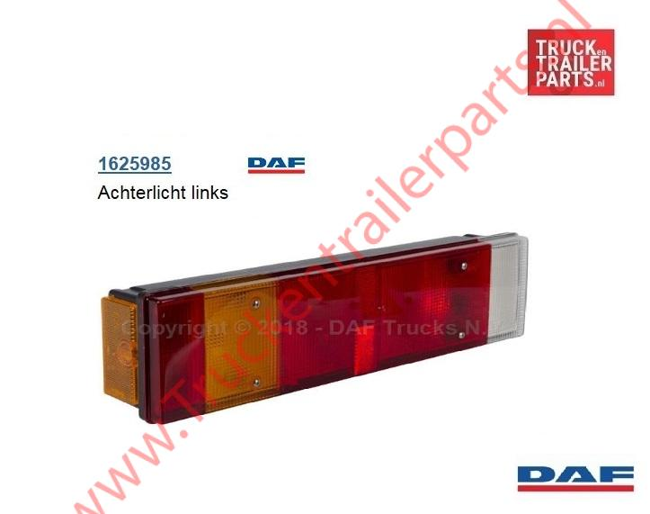 Achterlamp  DAF links